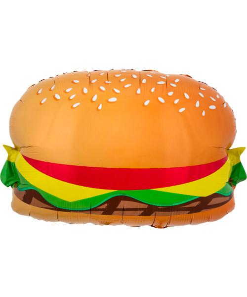 [Food] Hamburger with Bun Foil Balloon (26inch) (A41336)