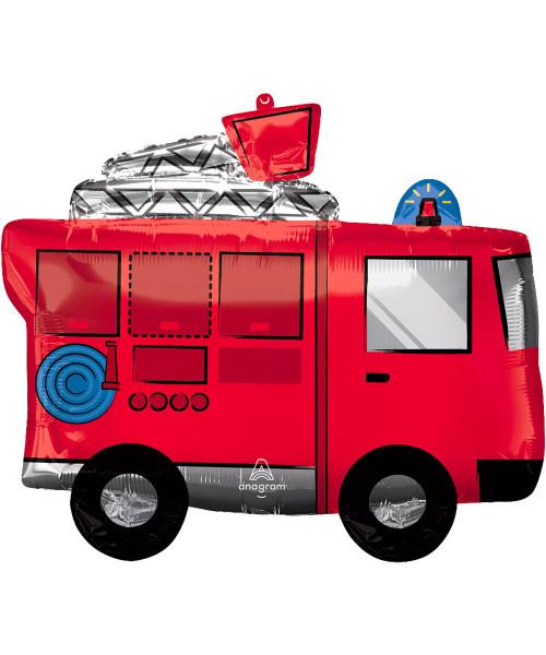 [Transportation] Fire Truck Foil Balloon (26inch) (A42802)