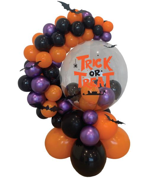 [Halloween] Trick or Treat Crystal Globe Balloons Centerpiece