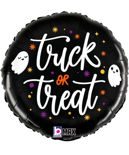 [Halloween] Trick or Treat Ghosts Foil Balloon (18inch) (B26139)