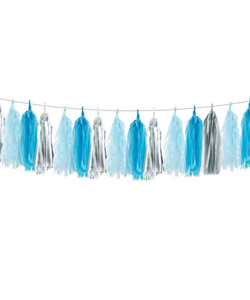 (15 Tassels Pack) Tassels Garland DIY Kit (15 Tassels) - Snow Blue