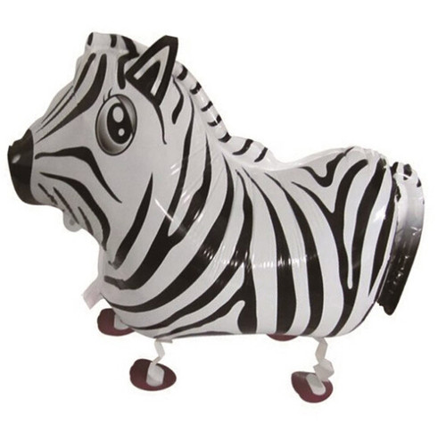 Walking Pet Balloon - Zebra