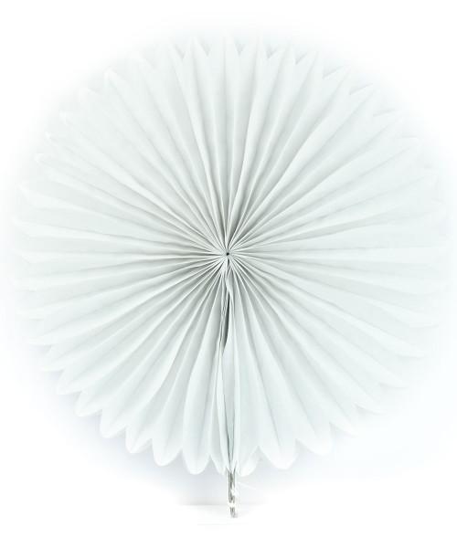 Paper Flower Fan (35cm) - White
