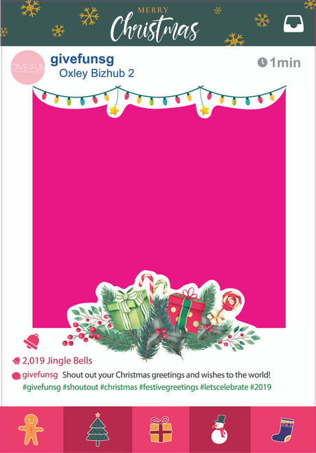 (Exclusive X'mas Design) Festive Party Christmas 2019 Frame - Small size
