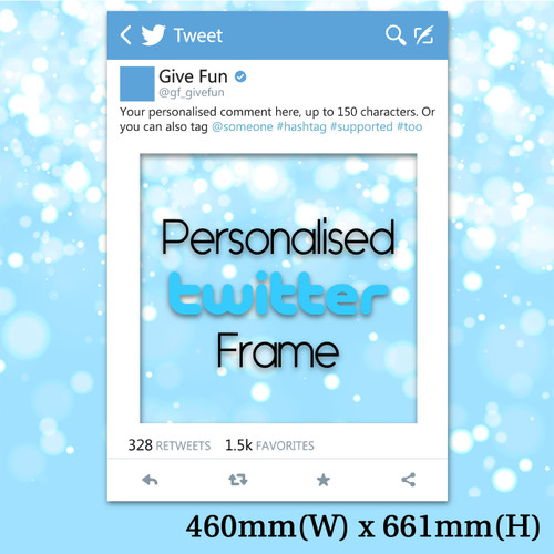 Personalised Twitter Frame - Small Size