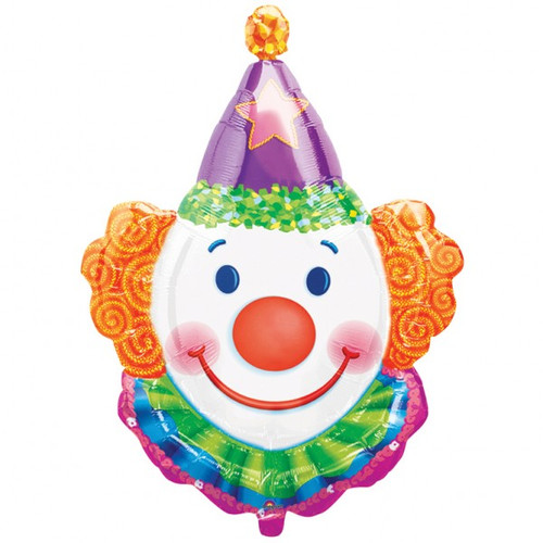 Smiling Clown Face Foil Balloon (33inch)