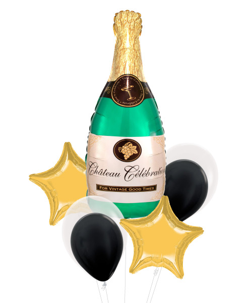 [Beverage] Bubbly Wine Champagne Bottle Balloons Bouquet