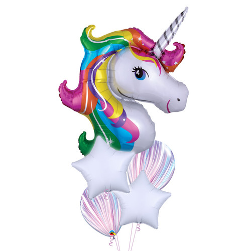 Rainbow Unicorn Dream Balloons Bouquet