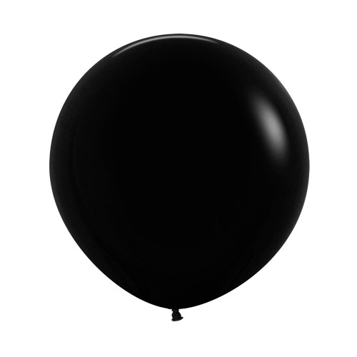 "[Oval Shaped] 36""/3 Feet Giant Round Latex Balloon - Black"