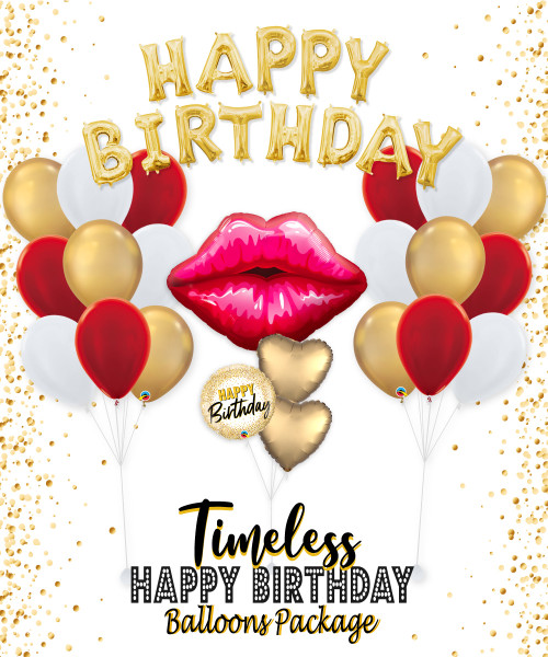Timeless Happy Birthday Balloons Package