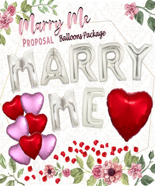 [Proposal] Marry Me Proposal Balloons Package