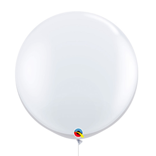 "36""/3Feet Jumbo Perfectly Round Latex Balloon - White"