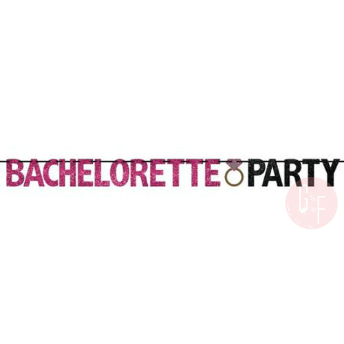 Bachelorette Party Glitter Letter Banner (3.65meter)