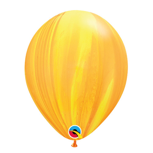 "11"" Marble Pattern Latex Balloon - Lemon Marble"