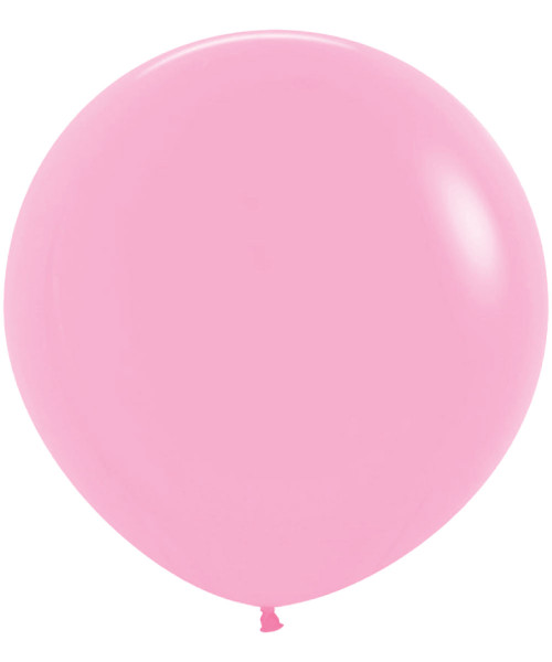 "18"" Fashion Color Round Latex Balloon - Bubblegum Pink"