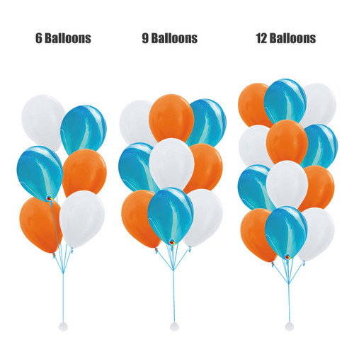 12'' Marble Pattern Balloons Cluster - Metallic Color