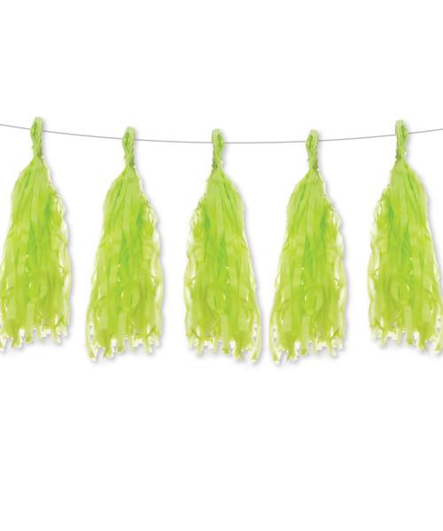 Tissue Paper Tassels Garlands DIY Kit (5 Tassels) - All Apple Green