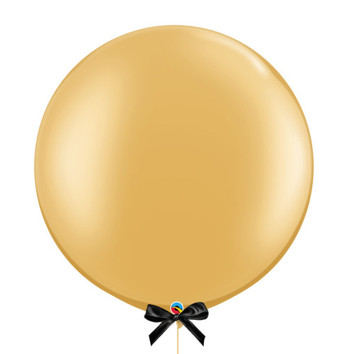 "30"" Giant Metallic Perfectly Round Latex Balloon - Gold"