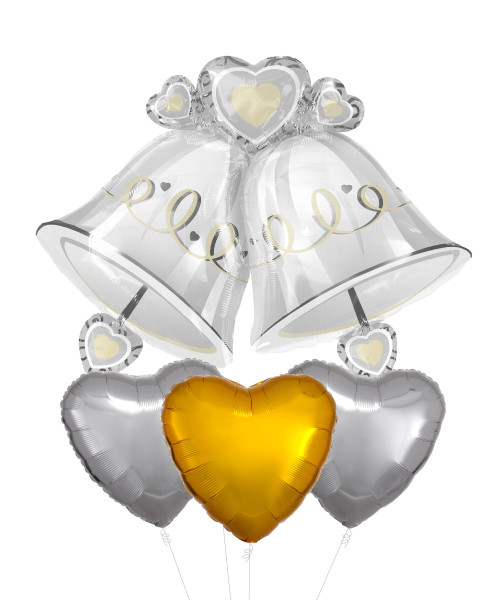 Wedding Bells Balloons Bouquet