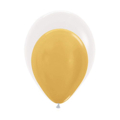 "12"" Balloon in a Balloon - Metallic Color"