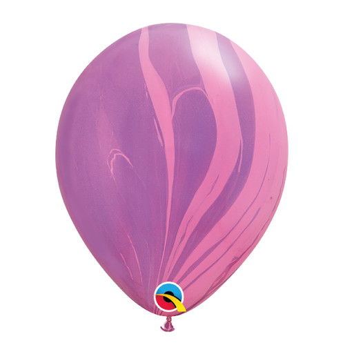 "11"" Marble Pattern Latex Balloon - Pink Violet Marble"
