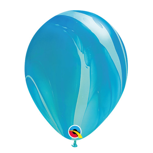 "12"" Marble Pattern Latex Balloon - Ocean Marble"