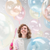 """18"""" Personalised Colored Crystal Clearz Bubble Balloon - Blue"""