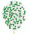 18'' Round Confetti (1cm) Clear Latex Balloon - Forest Green