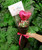 """Single Balloon Petite Hand Bouquet - 4"""" Heart Foil Balloon (Choose from 3 colors)"""