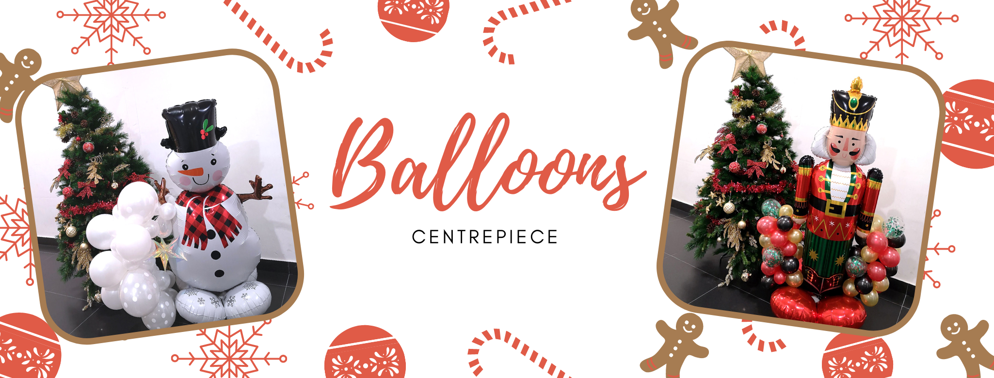 Christmas Balloons Centrepiece Delivery islandwide Singapore