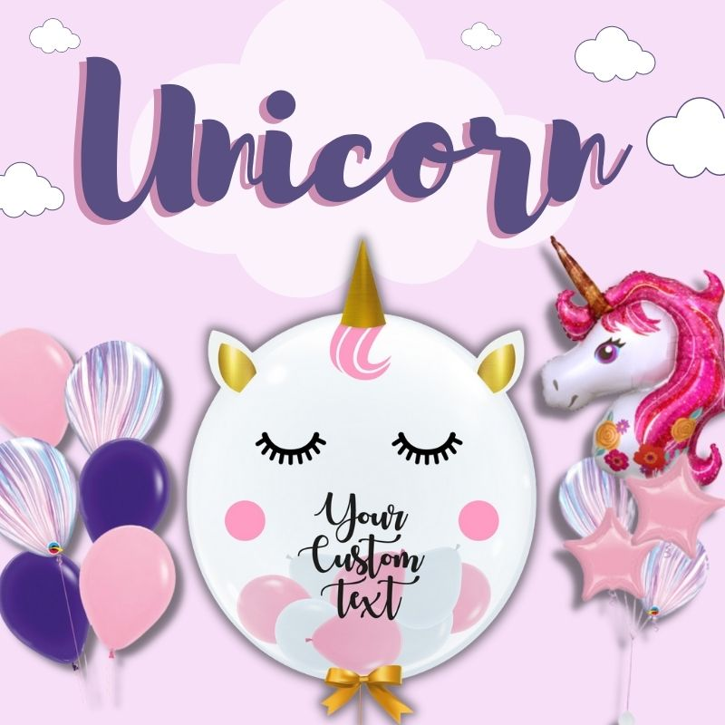 Unicorns Themed by Give Fun Singapore Balloons
