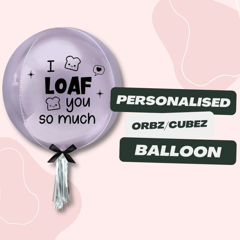 Personalised Orbz & Cubez Balloon by Give Fun Singapore Party Balloons