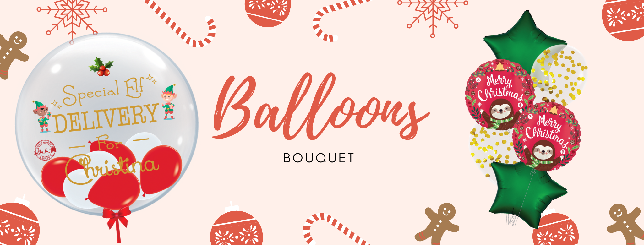 Christmas Balloons Bouquet Delivery islandwide Singapore