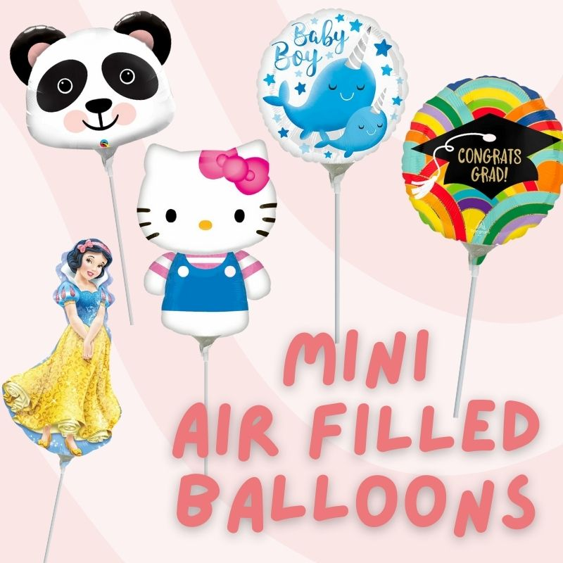 Mini Air Filled Balloons by Give Fun Singapore Balloons