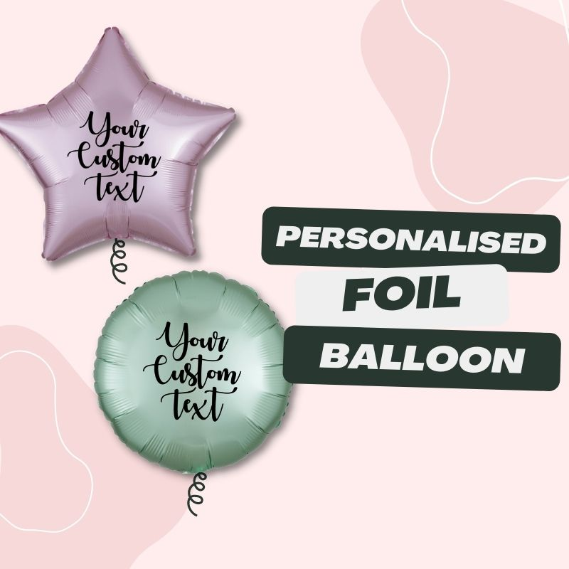 Personalised Foil Balloons by Give Fun Singapore Party Balloons