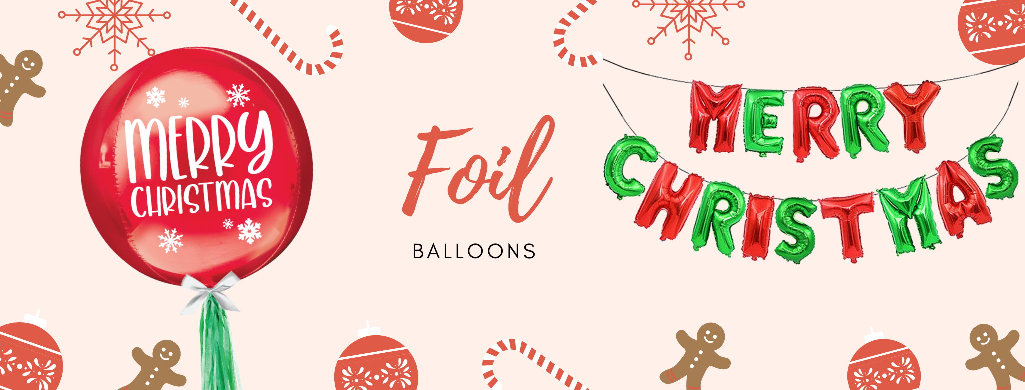 Christmas themed Foil Balloons Delivery islandwide Singapore