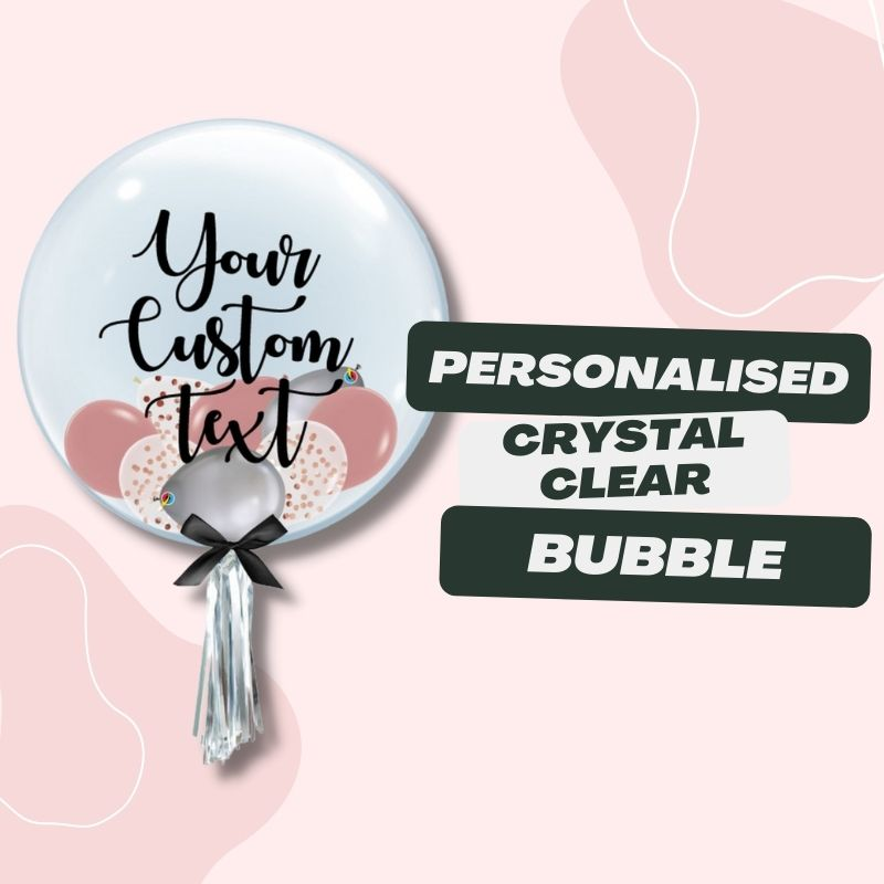 Personalised Crystal Clear Bubble by Give Fun Singapore