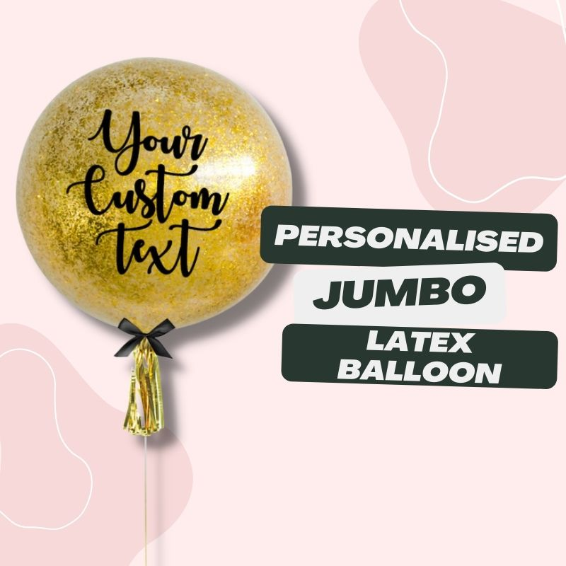 Personalised Jumbo Latex Balloons by Give Fun Singapore Party Balloons