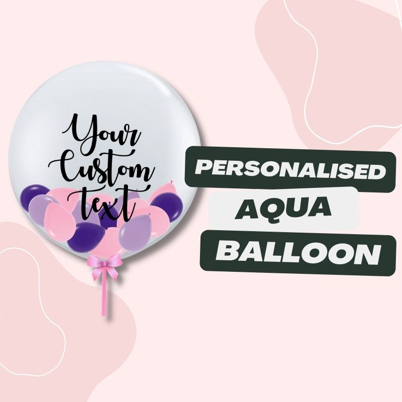 Personalised Aqua Balloon by Give Fun Singapore Party Balloons