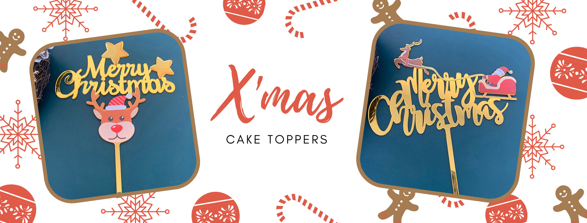 Christmas Xmas themed Cake Toppers Delivery islandwide Singapore