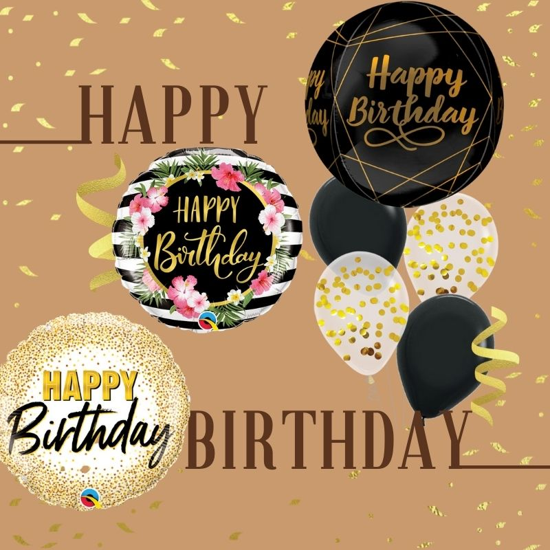 Birthday Themed Balloons by Give Fun Singapore Balloons