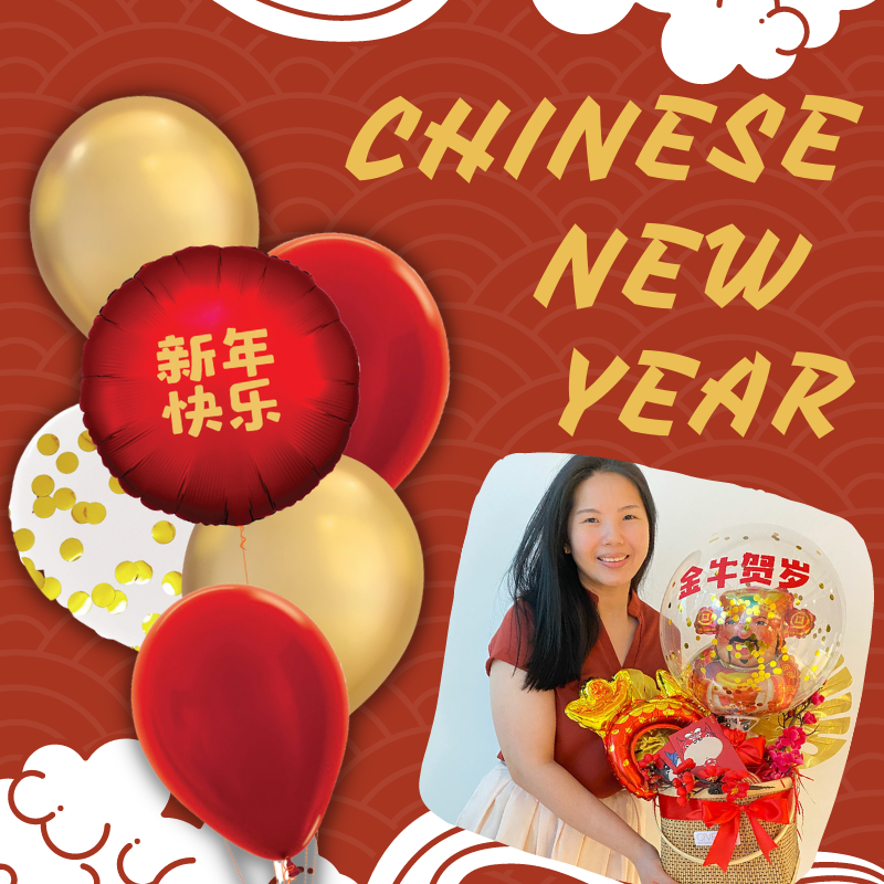 Give Fun Singapore Helium Balloons Party Supplies Decoration Birthday Same Day Delivery Self Pick Up Oxley Bizhub 2 best Gift balloon CNY Chinese New Year Gifts Basket Hamper Balloons