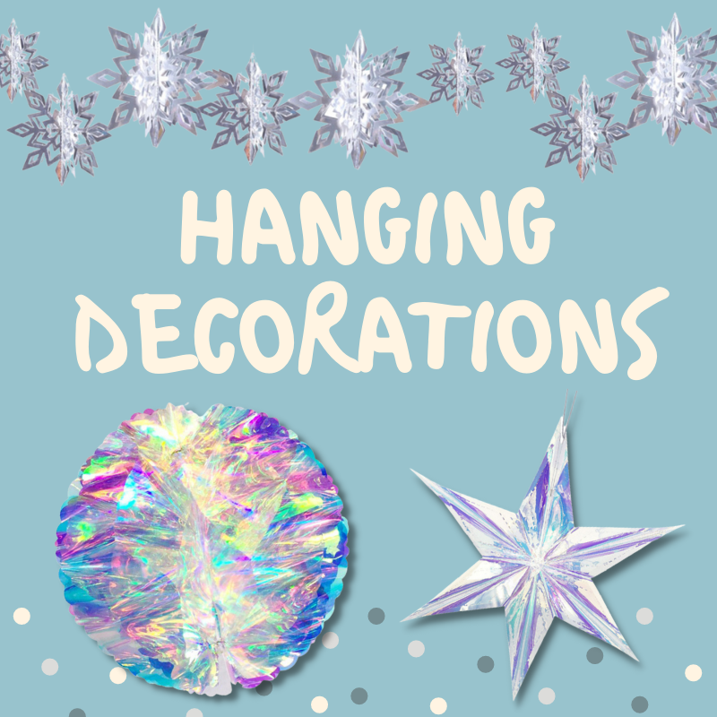 Baby Shower Birthday Same Day Delivery Give Fun Singapore Party Supplies Decoration hanging decor Frozen Theme Star Iridescent