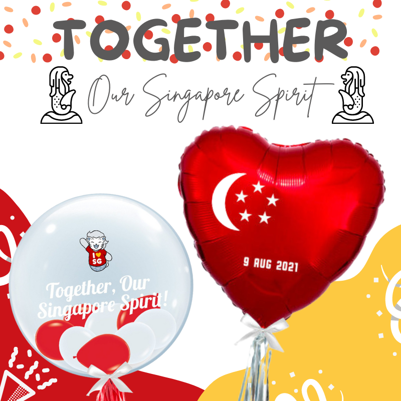 Give Fun Singapore Helium Balloons Party Supplies Decoration Birthday Same Day Delivery Self Pick Up Oxley Bizhub 2 best Gift balloon office celebration National Day NDP