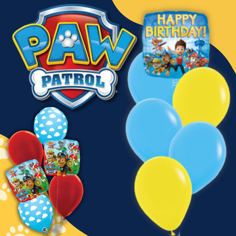 Paw Patrol Chase Sky Everest Zuma Rubble Licensed Balloon by Give Fun Singapore Online Party Supplies storea