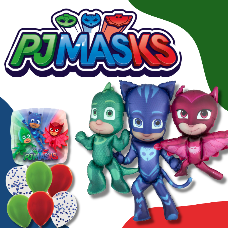 PJ Masks Owlette Gekko Catboy Licensed Balloon by Give Fun Singapore best party store