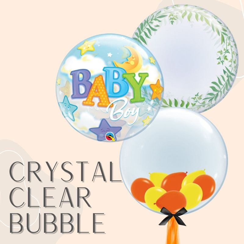 Helium Balloons Delivery Singapore Party Supplies Decorations Bubble Clear Transparent Balloon