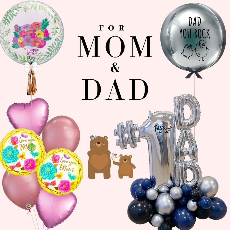 For MOM & DAD by Give Fun Singapore Balloons