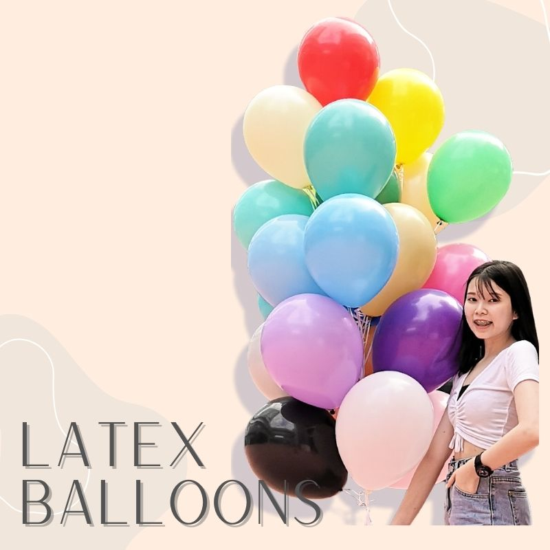 Helium Balloons Delivery Singapore Party Supplies Decorations Latex Balloon