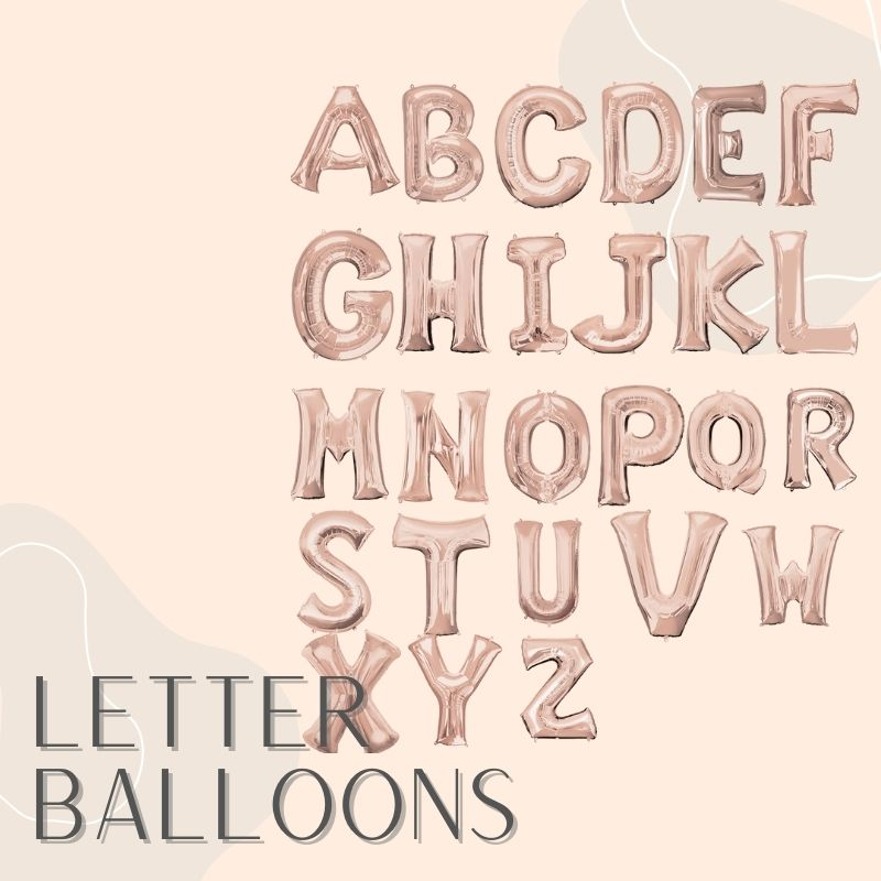 Helium Balloons Same Day Delivery Singapore Party Supplies Decorations Letter Alphabet Foil Balloon
